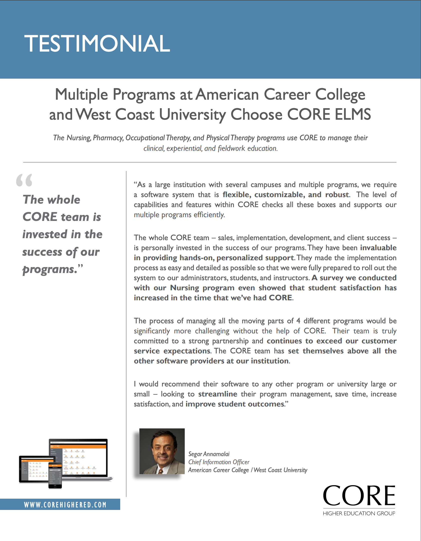 American Career College Testimonial
