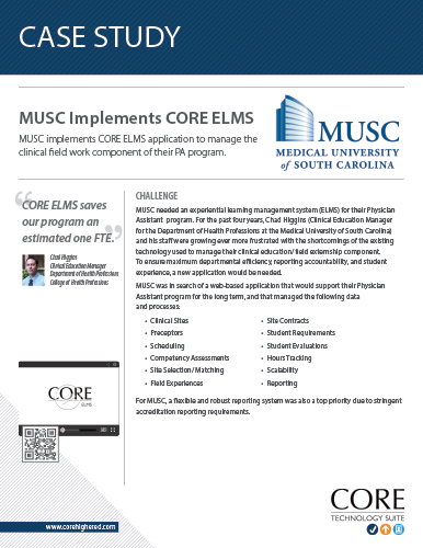 Case Study on ELMS Implementation at MUSC