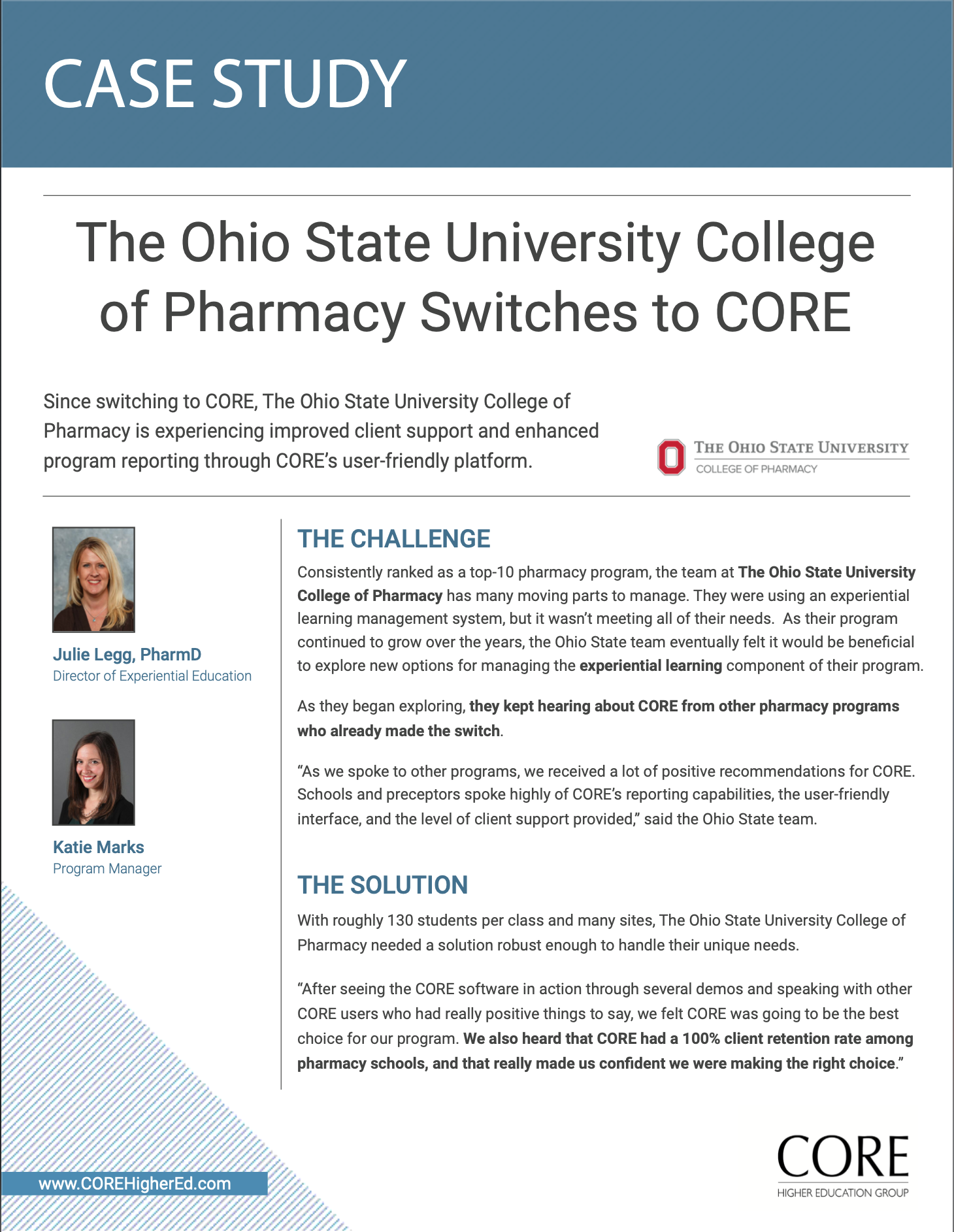 Case Study - The Ohio State College of Pharmacy