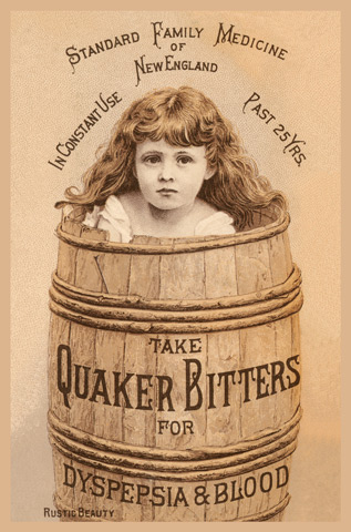 1895 - Quaker Bitters for Dyspepsia & Blood